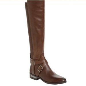 NWT Vince Camuto Brown WIDE Calf Riding Boots